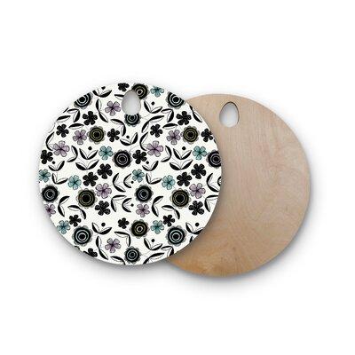 Jessica Wilde Birchwood Artisan Floral Cutting Board Shape: Round