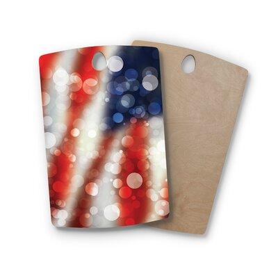 Birchwood Patriot America Bokeh Cutting Board Shape: Rectangle