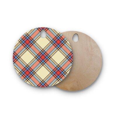 Birchwood Sunday Brunch Plaid Tartan Cutting Board Shape: Round