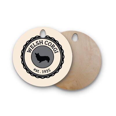 Birchwood Welsh Corgi Dog Cutting Board Shape: Round