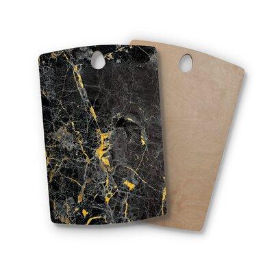 , Rectangle: 16' x 10.5' Birchwood Fleck Marble Digital Abstract Cutting Board Shape: Rectangle