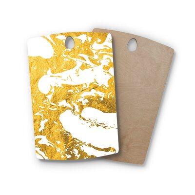 , Rectangle: 16' x 10.5' Birchwood Ink on Water Metal Cutting Board Shape: Rectangle