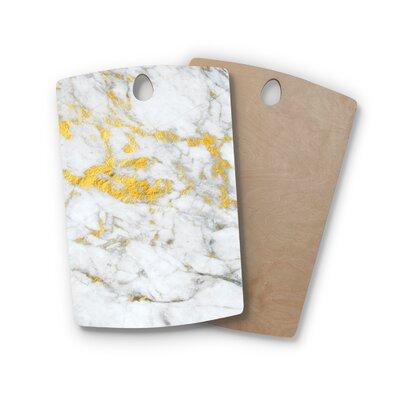 Birchwood Gold Flake Marble Metal Cutting Board Shape: Rectangle
