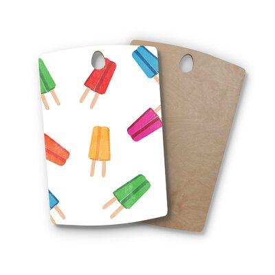 Birchwood Raining Popsicle Digital Cutting Board Shape: Rectangle