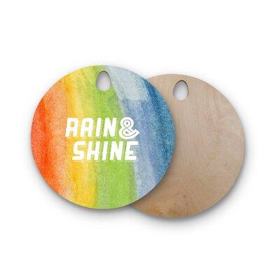Birchwood Rain & Shine Rainbow Abstract Cutting Board Shape: Round