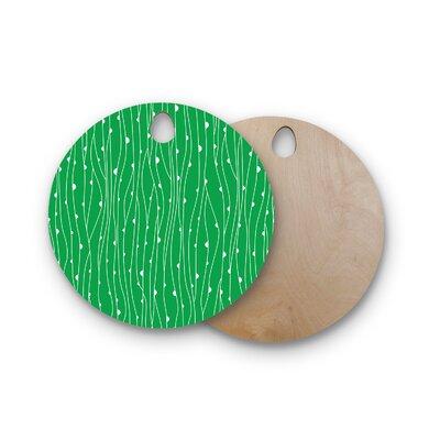 Birchwood Seaweed Bubbles Cutting Board Shape: Round
