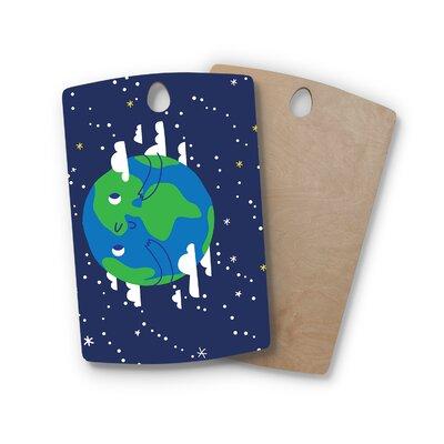 Birchwood Happy Earth Cutting Board Shape: Rectangle