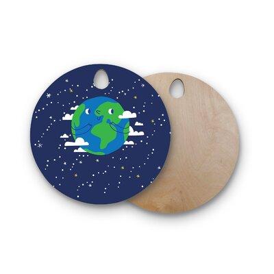Birchwood Happy Earth Cutting Board Shape: Round