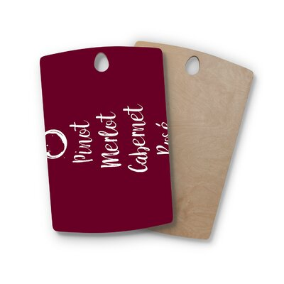Birchwood Pinot Merlot Cabernet Rose Cutting Board Shape: Rectangle