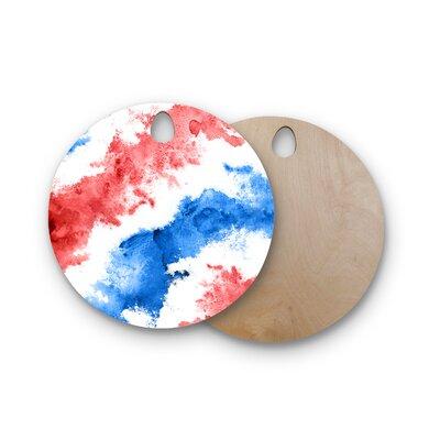 Birchwood Patriotic Cutting Board Shape: Round