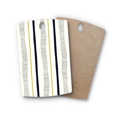 Laurie Baars Birchwood TextuStripes Abstract Lines Cutting Board Shape: Rectangle