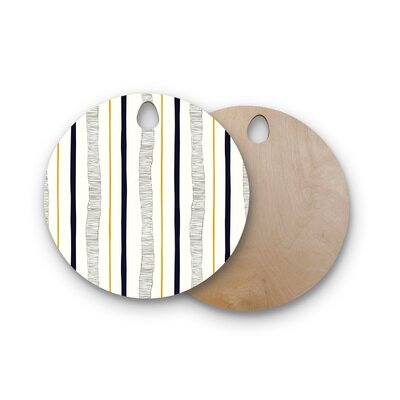Laurie Baars Birchwood TextuStripes Abstract Lines Cutting Board Shape: Round