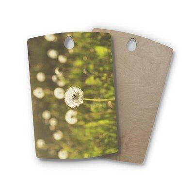 Libertad Leal Birchwood As You Wish Dandelions Cutting Board Shape: Rectangle