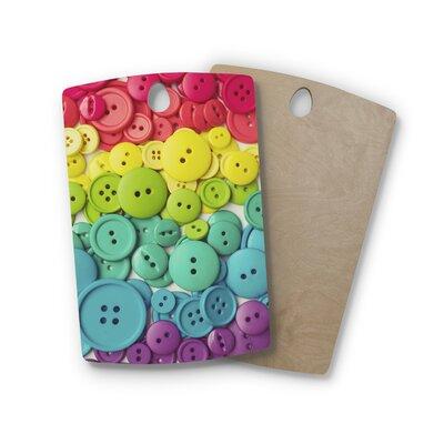 Libertad Leal Birchwood Cute As a Button Cutting Board Shape: Rectangle