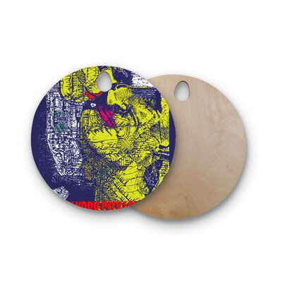 Lazer Milanovic Birchwood and Composition Cutting Board Shape: Round