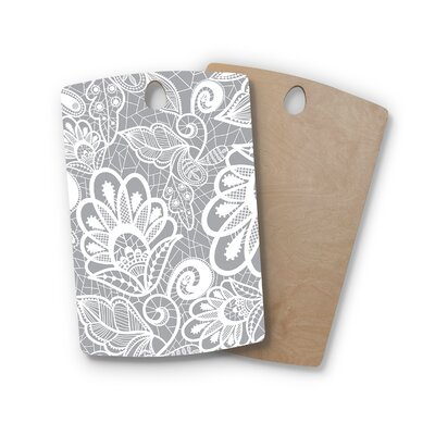 Petit Griffin Birchwood Lace Flower Cutting Board Shape: Rectangle