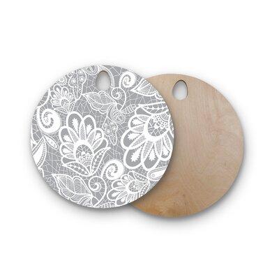 Petit Griffin Birchwood Lace Flower Cutting Board Shape: Round