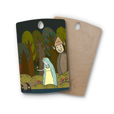 Petit Griffin Birchwood Enchanted Forest Cutting Board Shape: Rectangle