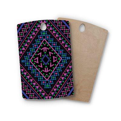 Nika Martinez Birchwood Neon Pattern Cutting Board Shape: Rectangle