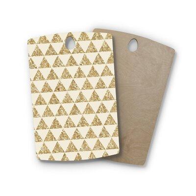 Nika Martinez Birchwood Glitter Triangles Shape: Rectangle