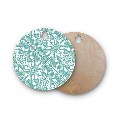 Miranda Mol Birchwood Swirling Tiles Cutting Board Shape: Round