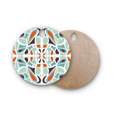 Miranda Mol Birchwood Stained Glass Cutting Board Shape: Round