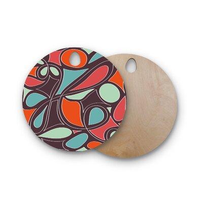 Miranda Mol Birchwood Retro Swirl Cutting Board Shape: Round
