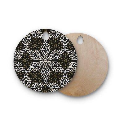 Miranda Mol Birchwood Ethnical Snowflakes Cutting Board Shape: Round