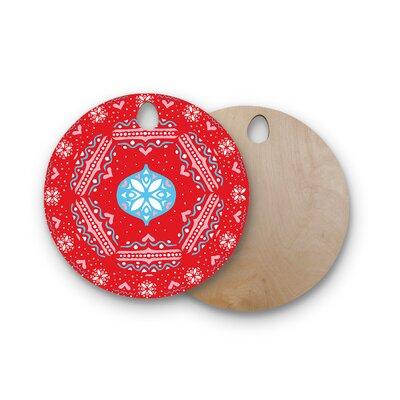 Miranda Mol Birchwood Snow Joy Red Blue Cutting Board