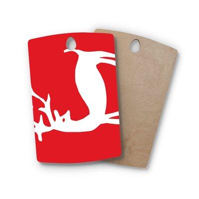 Miranda Mol Birchwood Reindeer Holiday Cutting Board Shape: Rectangle