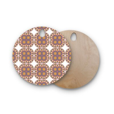 Miranda Mol Birchwood Ornamental Tiles Cutting Board Shape: Round
