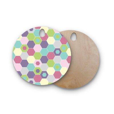 Nicole Ketchum Birchwood Pale Bee Hex Cutting Board Shape: Round