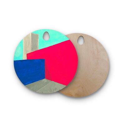 Oriana Cordero Birchwood Corner Geometry Cutting Board Shape: Round