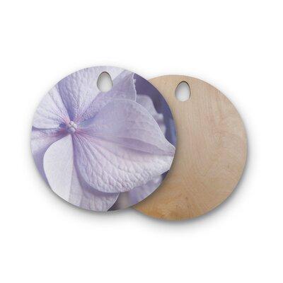 Suzanne Harford Birchwood Hydrangea Flower Floral Cutting Board Shape: Round