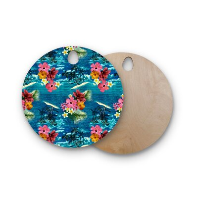 Victoria Krupp Birchwood Paradise Island Floral Cutting Board Shape: Round