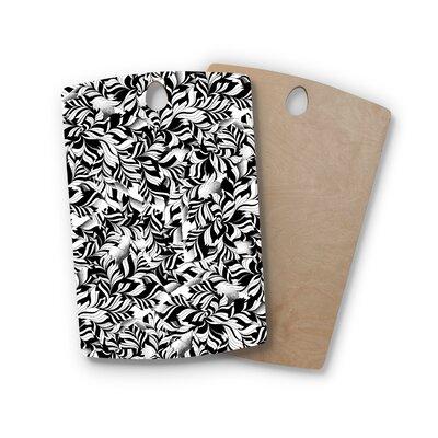 Victoria Krupp Birchwood Monochrome Leaves Mosaic Nature Cutting Board Shape: Rectangle