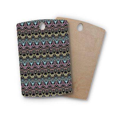 Victoria Krupp Birchwood Tribal Zigzag Digital Cutting Board Shape: Rectangle