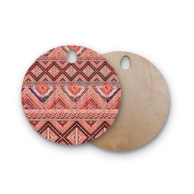 Victoria Krupp Birchwood Native American Art Illustration Cutting Board Shape: Round
