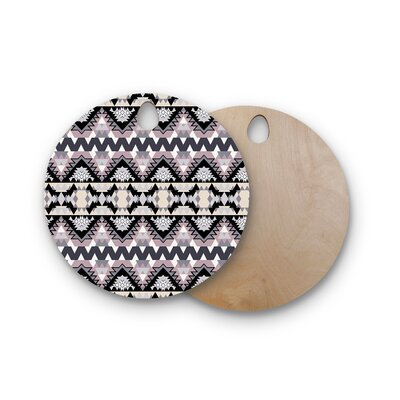 Victoria Krupp Birchwood Nordic Ice Digital Cutting Board Shape: Round