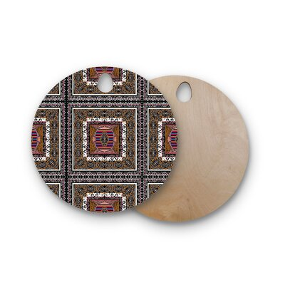 Victoria Krupp Birchwood Tibet Mandala Illustration Cutting Board Shape: Round