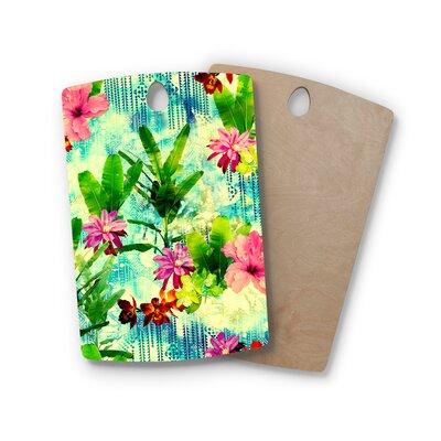 Victoria Krupp Birchwood Tropical Lagoon Illustration Cutting Board Shape: Rectangle