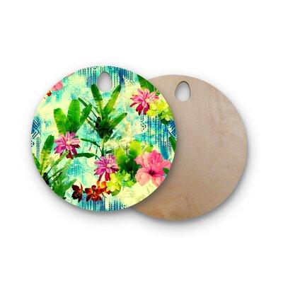 Victoria Krupp Birchwood Tropical Lagoon Illustration Cutting Board Shape: Round