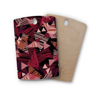 Victoria Krupp Birchwood Scribble GeoVector Cutting Board Shape: Rectangle