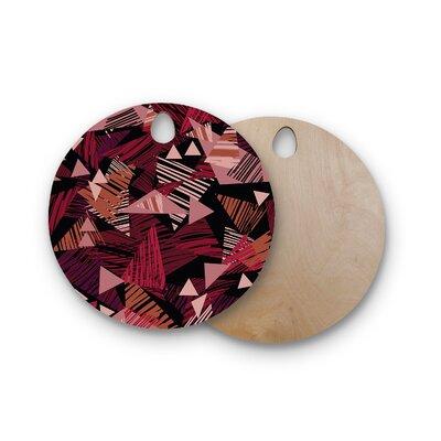 Victoria Krupp Birchwood Scribble GeoVector Cutting Board Shape: Round