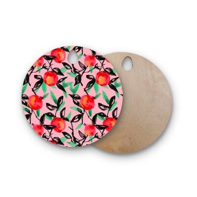 Victoria Krupp Birchwood Pomegranate Tree Digital Cutting Board Shape: Round