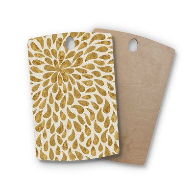 888 Design Birchwood Abstract Flower Cutting Board Shape: Rectangle