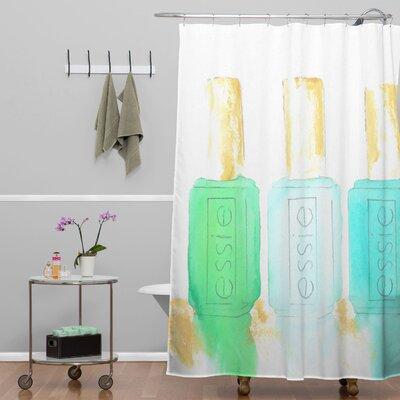 Essie Shower Curtain Color: Blue