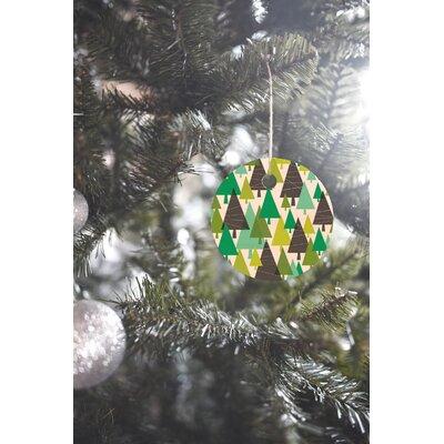 Heather Dutton Winter Woods Round Shaped Ornament