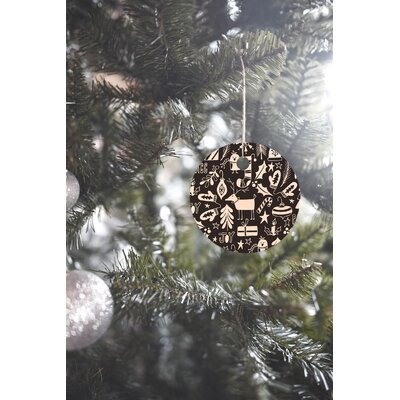 Heather Dutton Peace and Joy Round Shaped Ornament