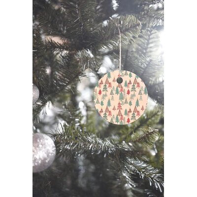 Dash and Ash Me Oh My Trees Round Shaped Ornament